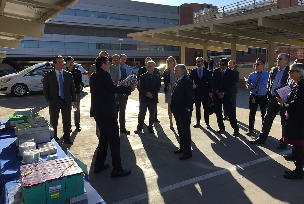 Rajit Gadh leads a tour of SMERC's Living Lab on Parking Structure 9