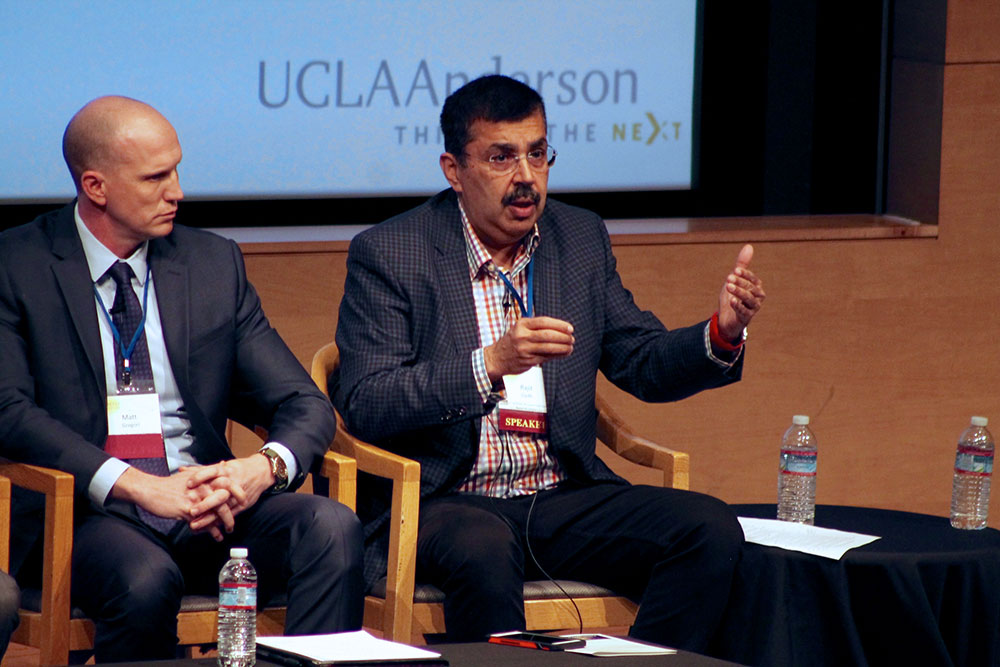 Rajit Gadh speaking at the 2017 Energy Innovation Conference