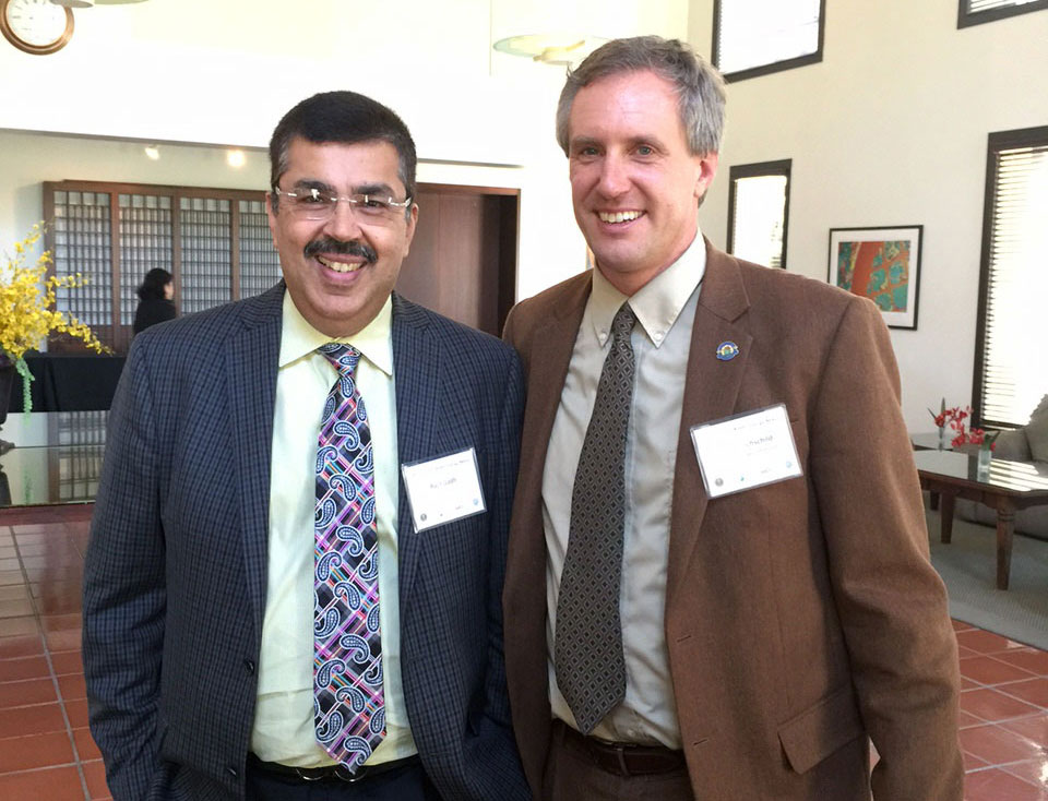 SMERC director, Rajit Gadh and California Energy Commissionaer David Hochschild
